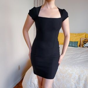 Lovely Day Cap Sleeve Square Neck Stretch Cocktail